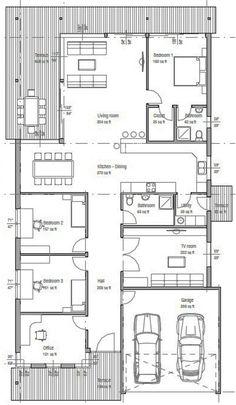 Plano de casa moderna de 3 dormitorios y 215 m2-2