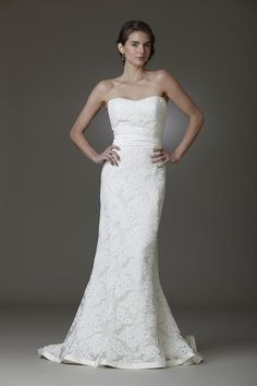Lace and Novelty ,Strapless, Sweetheart,Trumpet - Kennedy | Designer Wedding Dresses | Amy Kuschel Bride | Couture Bridal Gowns | Clever Cou...