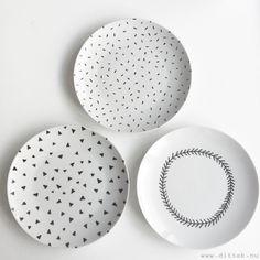 Hand painted ceramics #diy #ceramics #diyceramics #porcelain #handpaintedceramics #handpainted www.dittek.nu