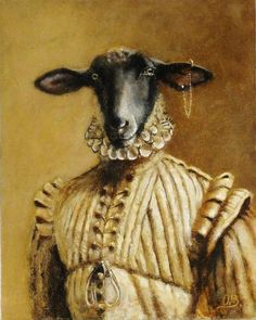 The Aristocratic Goat from The Baroque Beasts series by Olivia Beaumont