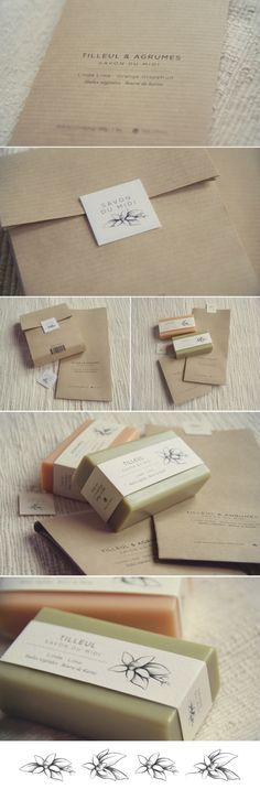 "carlacascales: "" Packaging, illustration and Brand Design for Savon du Midi. The packaging is made with recycled and recyclable natural products like kraft paper for the box and printed with..."