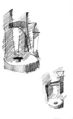 Mauricio Piza, St. Vito and the Millstone, pencil, 2011