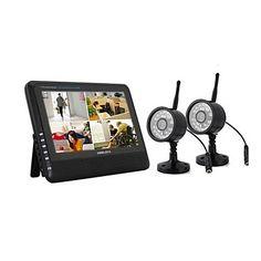 """NEW+Wireless+4CH+DVR+Quad+2+telecamere+con+7+""""sistema+di+sicurezza+TFT-LCD+Monitor+Casa+–+EUR+€+114.65"""