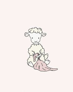 Lamb Nursery Art  Lamb with Blanket  Girl by SweetMelodyDesigns, $10.00
