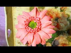 Гвоздика из холодного фарфора \ carnation flower of cold porcelain - YouTube
