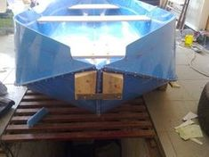 Construction Folding Boats From Polypropylene Sheet: 7 Steps Outdoor Life, Outdoor Gear, Folding Boat, Banana Boat, Boat Design, Small Boats, Boat Building, Water Crafts, Kayaking