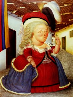 Fernando Botero, Marie Antoinette on a Visit to Colombia, 1990