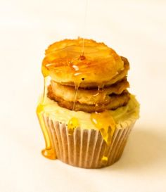 For pancake day we wondered what a cupcake pancake fusion would look like....so we started baking.
