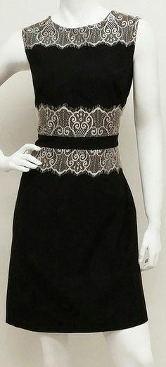 Black & White Lace Sleeveless Dress