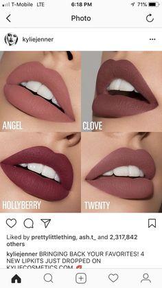 Kylie Jenner Lippenstifte - Makeup Looks Classic Mac Twig Lipstick, Kylie Jenner Makeup Lipstick, Maquillaje Kylie Jenner, Colourpop Lipstick, Sephora Lipstick, Mauve Lipstick, Red Lipstick Makeup, Lipstick Shades, Liquid Lipstick