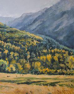 "NJ Busse Fine Art: Original Western Landscape Fine Art Painting ""UP T...Original Western Landscape Fine Art Painting ""UP TOWARD MARBLE"" by Colorado Artist Nancee Jean Busse, Painter of the American West"