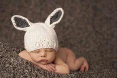 Gorros para recién nacidos: fotos diseños - Original gorro con orejas