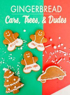 Gingerbread Cookies - Cars, Trees & Dudes