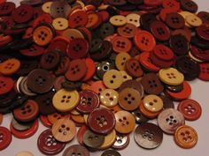 100 piece fall color button mix, 11-15 mm (B7)