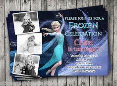 Custom Photo Disney Frozen Birthday Party Invitation