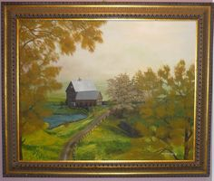 Landscape Country Road original oil painting canvas 24x30 signed  #Realism250.00 http://www.ebay.com/itm/Landscape-Country-Road-original-oil-painting-canvas-24x30-signed-/231143901489?pt=Art_Paintings&hash=item35d1400931