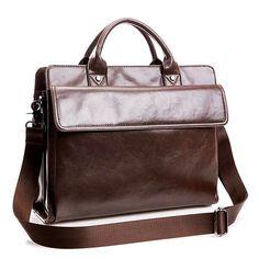 Vintage Laptop Bag Shoulder Bag Messenger Bag For Macbook iPad Laptop Notebook Under 14 Inch Sale - Banggood.com