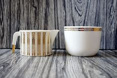 Holiday gift for the hostess of the year: Vintage serving pieces make a wonderful gift.
