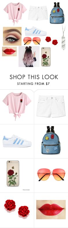 """""""teen outfit"""" by kaleighb28 on Polyvore featuring beauty, WithChic, Gap, adidas, IMoshion and Sharon Khazzam"""