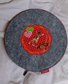 CD Tasche aus Filz *Rehlein* von STOFFBOTE - LELLILELLA  auf DaWanda.com