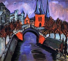 Ernst Ludwig Kirchner: Rotes Elisabethufer, Berlin via The Athenaeum Emil Nolde, Ernst Ludwig Kirchner, Davos, Oil Painting On Canvas, Painting & Drawing, Kandinsky, Expressionist Artists, Oil Painting Reproductions, Henri Matisse