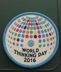 Thinking Day 2016 - Girlguiding Badge (rainbow, brownie, guide)