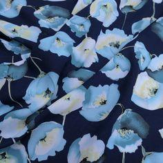 Annie Crepe Georgette - Blue Annie, Blue