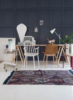 Bilderesultat for 60 bagdad grey Deco Blue, New Condo, Lund, Interior Inspiration, Home Office, Colours, Interior Design, Instagram Posts, Home Decor