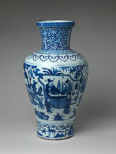 Jar with Poet Zhou Dunyi Period: Ming dynasty (1368–1644), Wanli mark and period (1573–1620)