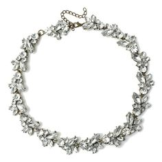 Chain link statement clear crystal necklace bride New Jewelry Necklaces