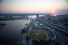 Harbor Park - Home of the Norfolk Tides, Norfolk, VA. AAA affiliate of the Baltimore Orioles. Norfolk Tides, Harbor Park, Norfolk Virginia, Virginia Is For Lovers, Hampton Roads, Park Homes, Portsmouth, Virginia Beach, Airplane View