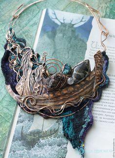 "The Milky Way Sisters"" copper necklace Julia Chernopazova"
