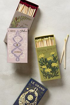 Special pretty matches for lighting candles and fireplaces - because MOAR FANCY.