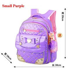8fcd2bf6e2ab New Coolbaby Sweet Lovely 1-6 Grade Schoolbag Waterproof PU Backpacks  Cartoon Princess Bookbag Fashion Girls School Bag L032