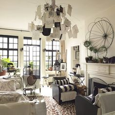 Chandelier Bulletin Board