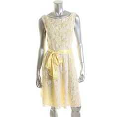 Price Drop !Jessica Howard dress Jessica Howard bright yellow dress with lace . Yellow lace and knee length . Sleeveless. Jessica Howard Dresses