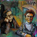 """Rathskeller 30""""x30"""" acrylic on canvas"""
