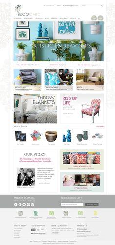 EcoChic Website Redesign by Zeald #websitedesign #websiteinspiration #layout