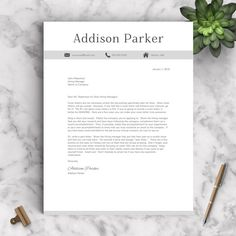 Creative Resume Template For Word And Pages  References Cover