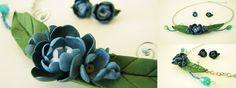 Blue bouquet polymer clay necklace: http://agencyra.com/stilno-kolie-obici-ot-sini-cvetja-izraboteni-ot-polimerna-glina-p-805.html