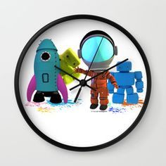 Bots and the Astronaut Wall Clock