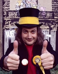 Screaming Lord Such - founder of the Monster Raving Loony Party (who Andrew decides to vote for in the 1987 general election) Screaming Lord Sutch, Vision Book, Duck Soup, Famous Faces, Icons, Music, Funny, Party, Christmas