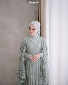 Hijab Prom Dress, Muslimah Wedding Dress, Muslim Wedding Dresses, Muslim Dress, Dress Up, Dress Brokat Modern, Kebaya Modern Dress, Kebaya Dress, Stylish Dress Designs