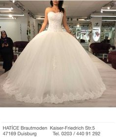 Puffy wedding dress ball gown