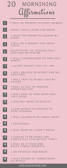 Self-Care Tips - Quote Positivity - Positive quote - Daily affirmations can provide a positive mood for your entire day. Improve self-love by speaking positive words to yourself on a daily basis. The post Self-Care Tips appeared first on Gag Dad. Vie Positive, Positive Affirmations Quotes, Affirmations For Women, Self Love Affirmations, Affirmation Quotes, Positive Self Talk, Positive Morning Quotes, Healthy Affirmations, Christian Affirmations