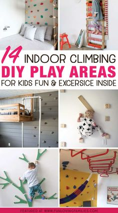 Indoor play for kids: Make an indoor climbing space for kids fun and exercise in., Indoor play for kids: Make an indoor climbing space for kids fun and exercise in…, Kids Indoor Play Area, Indoor Games For Kids, Diy For Kids, Indoor Jungle Gym, Kids Indoor Playground, Indoor Playroom, Diy Pour Enfants, Kids Climbing, Indoor Climbing Wall