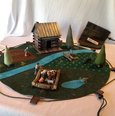 Westward ho! Investigate the days of pioneers and exploring the west with this play scape, play mat and storage bag all in one. The circular