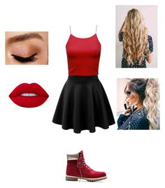 """""""Cute ❤️️"""" by leisure-alexa ❤ liked on Polyvore featuring LE3NO, Timberland and Avon"""