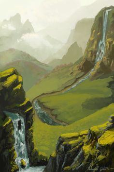 Valley of Mist and Hills by ArtLanding