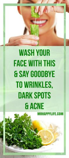 You can go through all the acnes, dark spots and skin discoloration with a simple homemade lotion. It is made of completely natural ingredients, lemon and parsley leaves (or apple cider vinegar).